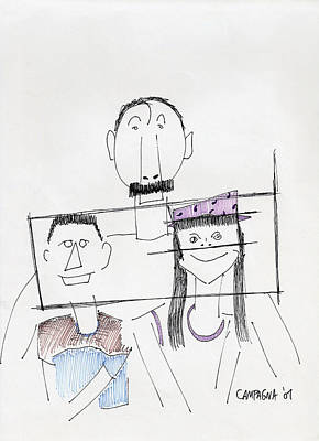 Painting - Family Portrait by Teddy Campagna