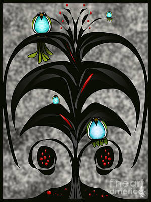 Digital Art - Family Tree by J Kinion