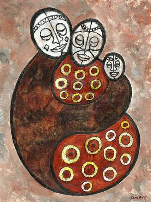Painting - Family Unity by Injete Chesoni