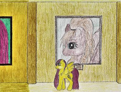 My Little Pony Drawing - Famous Hall by April McCallum