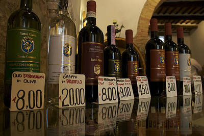 Wine Cellar Photograph - Famous Tuscan Wines For Sale At A Local by Heather Perry