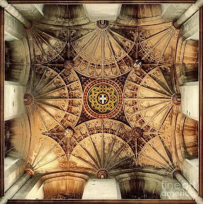 Fan Vaulting Canterbury Cathedral Print by Jack Torcello