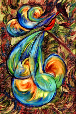 Digital Art - Fanciful Bird by Judi Quelland
