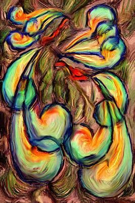 Digital Art - Fanciful Birds by Judi Quelland