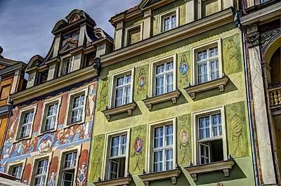 Butting Heads Photograph - Fancy Facades - Posnan Poland by Jon Berghoff