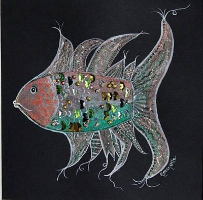 Fancy Fish I Art Print by Linda Robinette