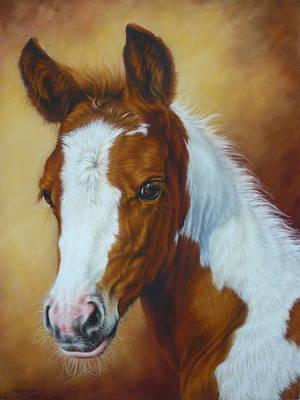 Fancy Portrait Art Print by Margaret Stockdale