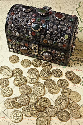 Treasure Box Photograph - Fancy Treasure Chest  by Garry Gay