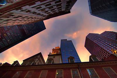 Photograph - Faneuil Hall Sky by Joann Vitali