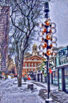 Photograph - Faneuil Hall Winter by Joann Vitali
