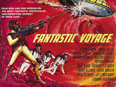 Fantastic Voyage, British Poster Art Print by Everett