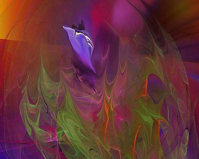 Digital Art - Fantasy Alien Flower by David Lane
