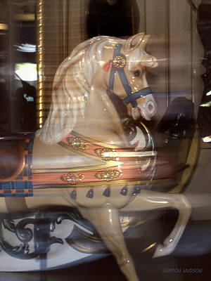 Photograph - fantasy animals from the carousel - Proud Palomino by Sharon Hudson