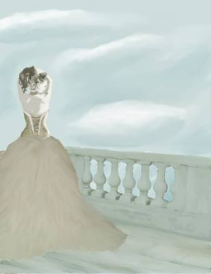 Fantasy Bride Art Print by Stacy Parker