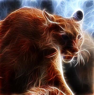 Fantasy Cougar Art Print by Paul Ward