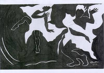 Fantasy Dance Art Print by Rhetta Hughes