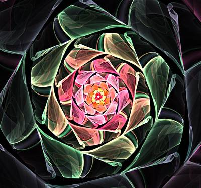 Fantasy Floral Expression 111311 Art Print by David Lane