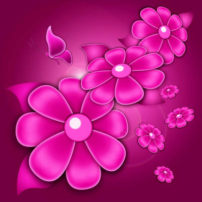 Fantasy Floral Art Print