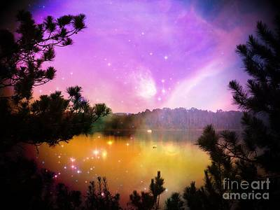 Photograph - Fantasy Lake by Whispering Feather Gallery