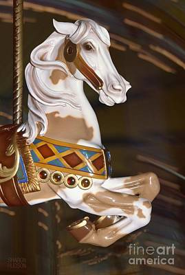 Photograph - fantasy ponies at a carnival - Prancing Pinto II by Sharon Hudson