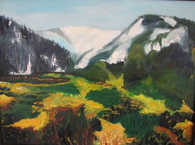 Far Away Mountains Art Print by Iris Nazario Dziadul