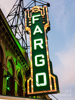 Photograph - Fargo Theatre Marquee At Night Photo by Paul Velgos