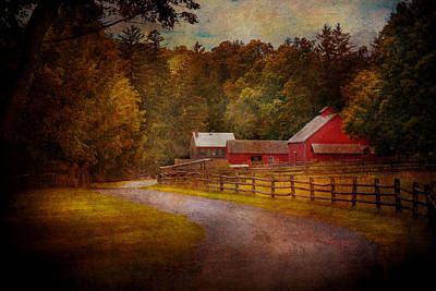 Farm - Barn - Rural Journeys  Art Print by Mike Savad
