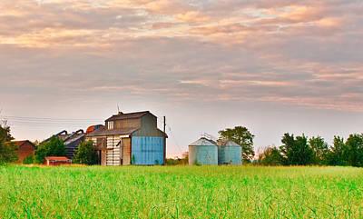 Farm Buildings Art Print by Tom Gowanlock