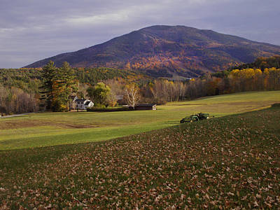 Photograph - Farm By Ascutney Mountain Vermont by Nancy Griswold