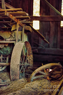 Old Grinders Photograph - Farm Equipment by HD Connelly