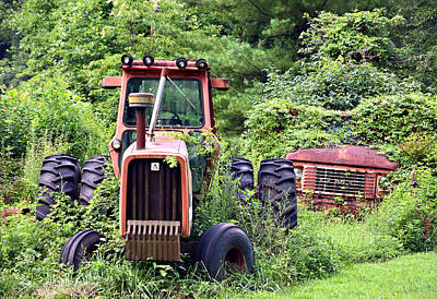 Farm Equipment Art Print by Susan Leggett