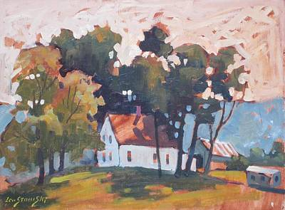 Painting - Farm House In New York by Len Stomski