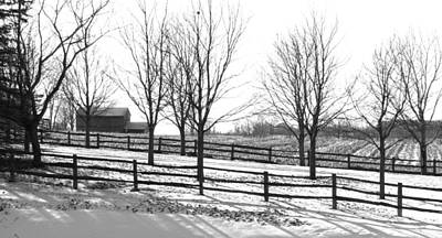 Photograph - Farm In Winter by Douglas Pike