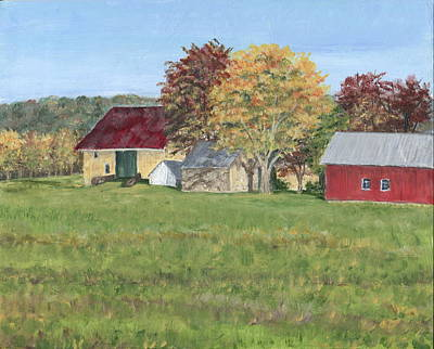 Farm On Ridge Road Art Print