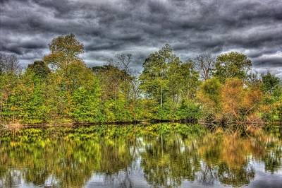 Autumn Photograph - Farm Pond 2 by Barry Jones