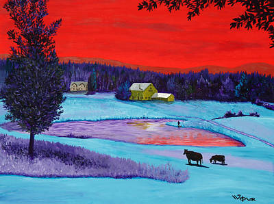 Painting - Farm Pond by Randall Weidner