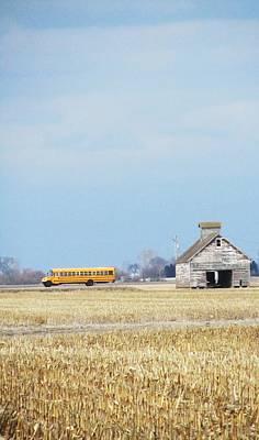 Photograph - Farm School Bus by Todd Sherlock