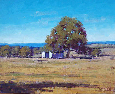 Australia Landscape Painting - Farm Shed by Graham Gercken