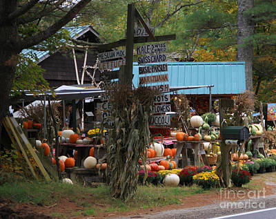 Nh Photograph - Farm Stand In Nh by Michael Mooney