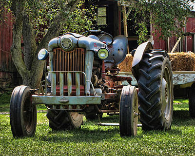 Photograph - Farm Tractor One by Ann Bridges