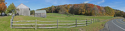 Photograph - Farm With Split Rail Fence by Gregory Scott