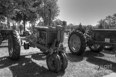 Farmall And Oliver In B-w Art Print