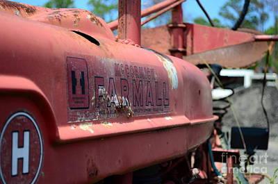 Abandonded Tractor Photograph - Farmall Logo by Lynda Dawson-Youngclaus