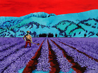 Painting - Farmer by Randall Weidner
