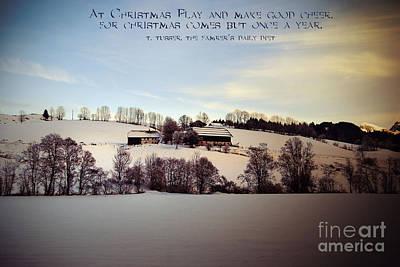 Farmer's Christmas Art Print by Sabine Jacobs