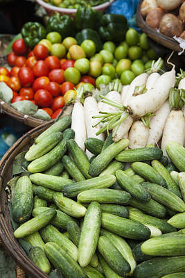 Farmers Market Vegetables Cucumber; Print by Roberto Westbrook
