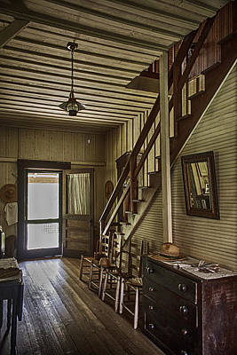 Ladder Back Chairs Photograph - Farmhouse Entry Hall And Stairs by Lynn Palmer