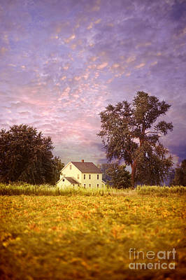 Red Farmhouse Photograph - Farmhouse by HD Connelly