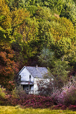 Misty Hills Farm Photograph - Farmhouse In Fall by Debra and Dave Vanderlaan