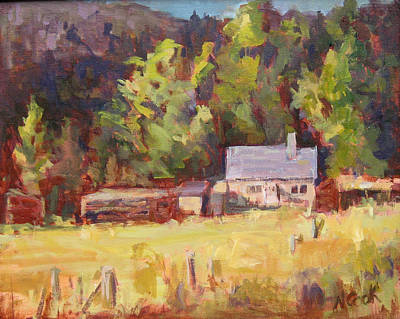 Painting - Farmhouse by Nanci Cook